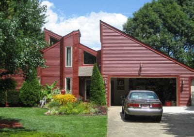 barn red vinyl siding